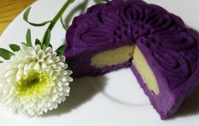 Cách làm bánh trung thu khoai lang tím cực ngon, cực độc đáo, đẹp mắt