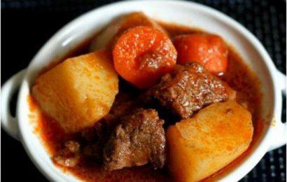 Cách nấu thịt bò sốt vang công thức chuẩn vị