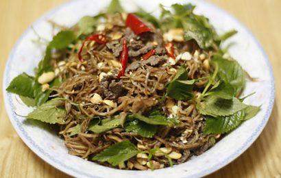 Cách làm nộm hoa chuối thịt bò khô ngon ăn, dễ làm