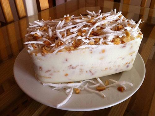 20 phút làm kem chuối lạc dừa không cần máy vẫn ngon mê mẩn