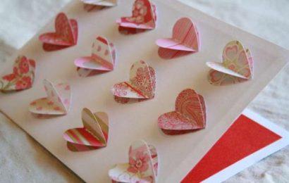 Khéo tay gập thiệp trái tim 3D tặng valentine người yêu