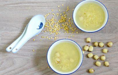 Thanh nhiệt, giải độc với chè hạt sen đậu xanh mát lành