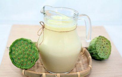 Giải nhiệt mùa hè với sữa hạt sen thơm ngon, bổ dưỡng