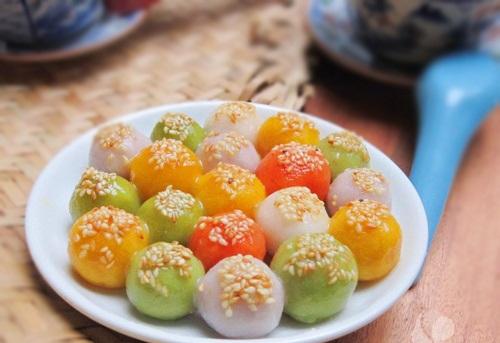 Cách làm bánh trôi tàu ngũ sắc đẹp, độc và hấp dẫn đón tết Hàn thực