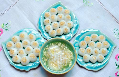 cách làm bánh trôi nhân dừa