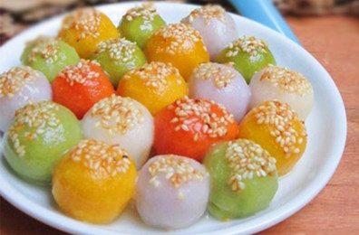Rực rỡ với cách làm bánh trôi bảy màu trong Tết Hàn thực