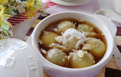 Hấp dẫn người ăn với cách làm bánh trôi nước nhân khoai lang tím cho Tết Hàn thực