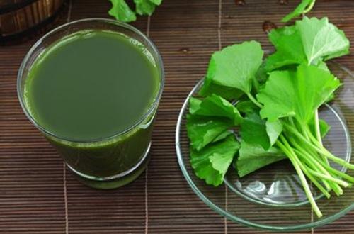 cách làm sinh tố rau má