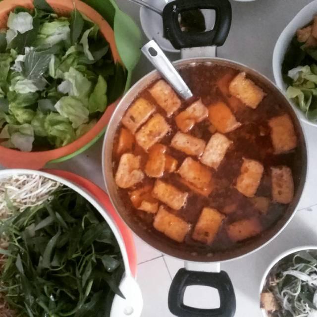 cách nấu bún riêu cua miền Trung ngon