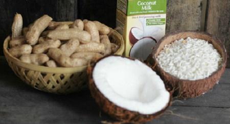 Cách nấu xôi đậu phộng nước cốt dừa