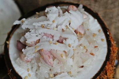 Cách nấu xôi đậu phộng nước cốt dừa khởi động ngày mới