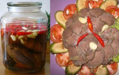 Bắp bò ngâm chua mặn ngọt ăn mãi không chán