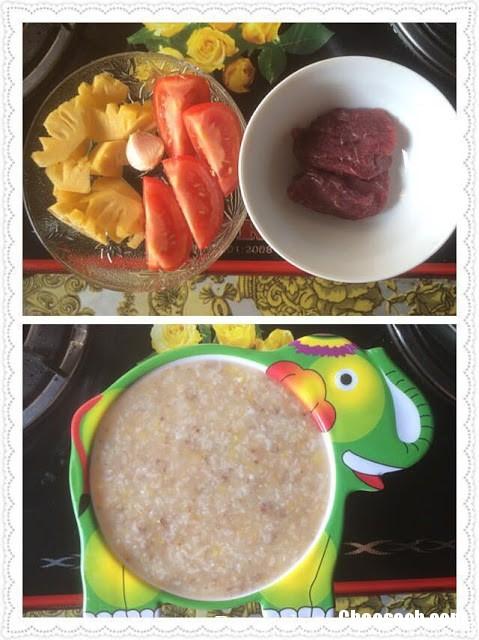 Các món cháo dinh dưỡng cho bé 9 tháng