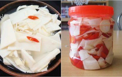 Học lỏm cách làm măng chua ngâm dấm ớt ngon khó cưỡng
