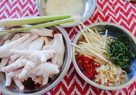 cách làm món chân gà ngâm chua ngọt