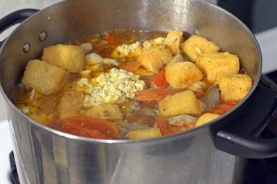 Cách nấu bún riêu cua chay thơm ngon 6