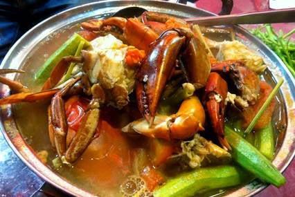 cách nấu canh chua cua biển