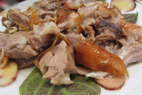 Thịt chó luộc nước cốt dừa