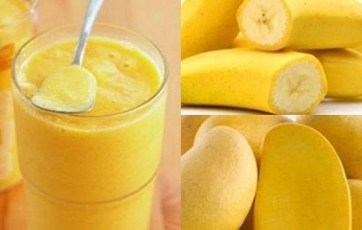 Cách làm sinh tố xoài chuối bổ dưỡng nhất trong hè này
