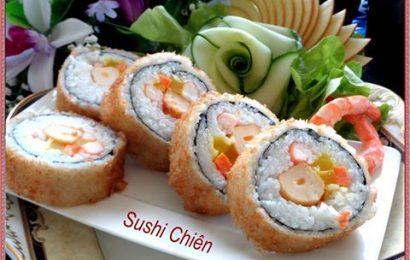 Cách làm sushi chiên xù giòn cầu kỳ một chút nhưng bù lại rất ngon
