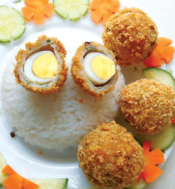 cách làm trứng cút chiên bột