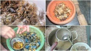 cách nấu canh cua khoai sọ rau rút