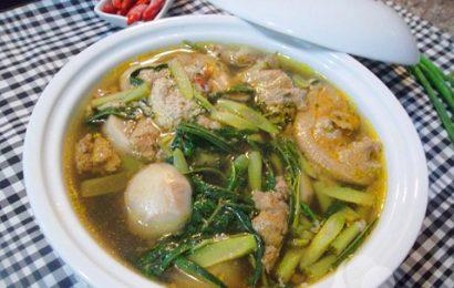 Cách nấu canh cua khoai sọ rau rút ngon bổ cho cả nhà