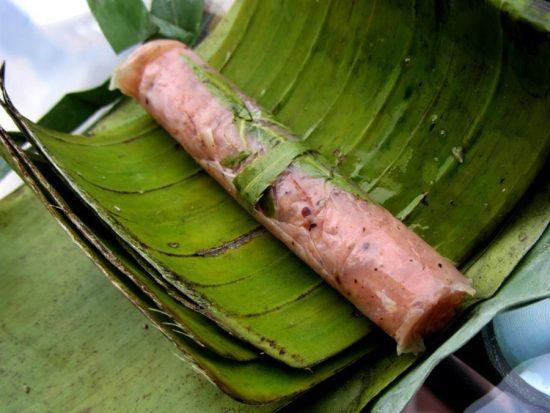 Cách làm nem chua bằng thịt heo (lợn) đơn giản 6