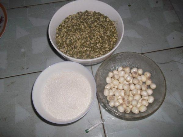 Cách nấu cháo hạt sen đậu xanh