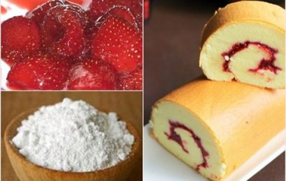 Cách làm bánh bông lan dâu ngọt thơm hấp dẫn
