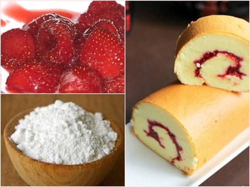 Cách làm bánh bông lan dâu