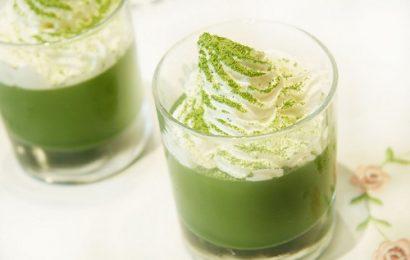 Pha chế trà sữa trà xanh Nhật Bản với bột matcha có sẵn