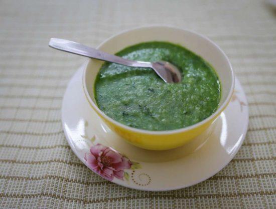 Cách nấu cháo tim heo cho bé với rau cải chíp thơm ngon nhất 1