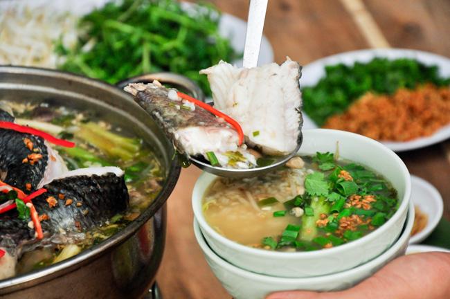 Cách nấu lẩu cháo cá lóc