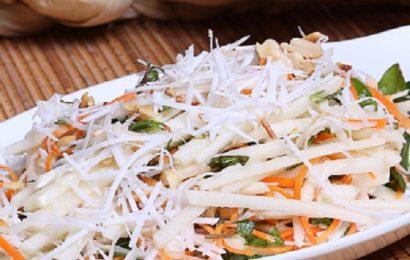 Cách làm nộm củ đậu cà rốt chống ngán cho bữa cơm ai cũng thích