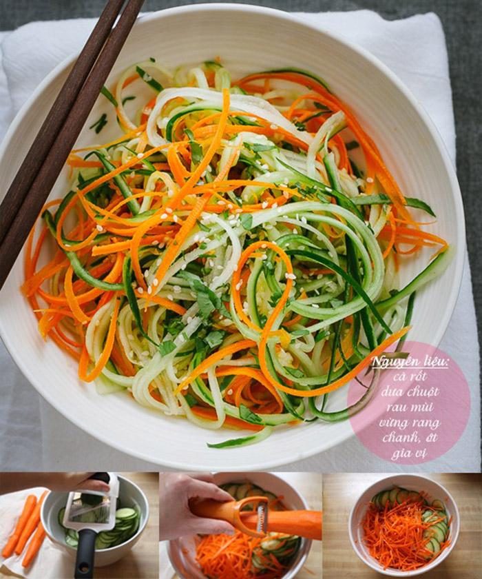 Cách làm nộm dưa chuột với cà rốt thơm mát và ngọt vị chưa từng thấy 1