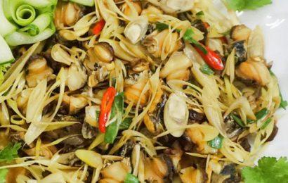 Hấp dẫn và dậy hương với cách làm món ốc bươu xào sả ớt đơn giản