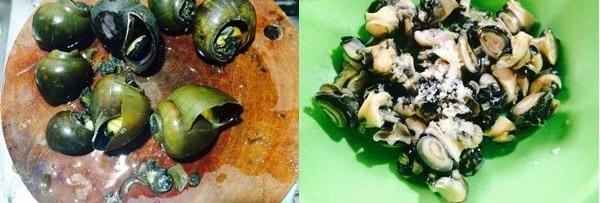 Cách nấu ốc om chuối xanh tuy đơn giản mà ngon không tưởng 6