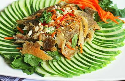 Bỏ túi cách làm gỏi dưa leo khô cá lóc chuẩn nhà hàng
