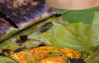 Món cá nướng lá chuối vô cùng độc đáo với hương vị lạ miệng