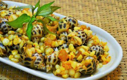 Ngon ngẩn ngơ với món ốc hương xào bắp thơm ngọt, hấp dẫn