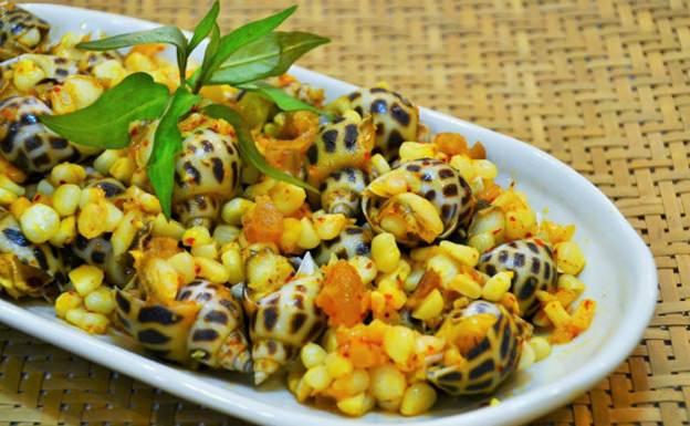 Ngon ngẩn ngơ với món ốc hương xào bắp thơm ngọt, hấp dẫn 7