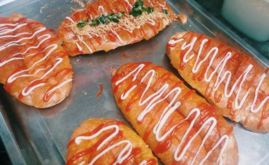 cách làm bánh mì nướng sa tế 3