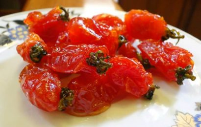 Táy máy với món mứt cà chua bi dẻo thơm ngon giàu dinh dưỡng