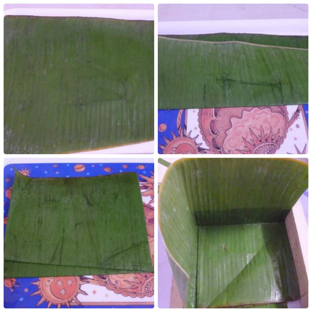 cách gói bánh chưng bằng lá chuối 1