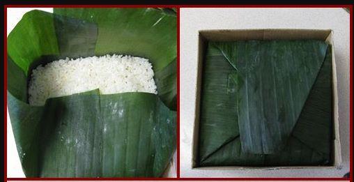 cách gói bánh chưng bằng lá chuối 4