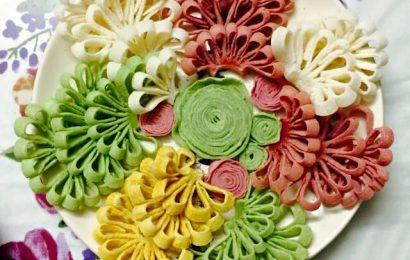 Cách làm mứt dừa hình hoa cúc trang trí cho khay mứt thêm đẹp