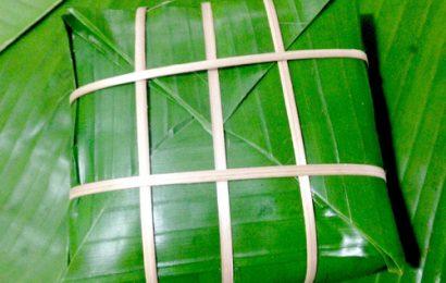 Cách gói bánh chưng bằng lá chuối không dùng khuôn vô cùng đơn giản