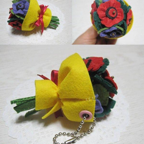 Học cách làm bó hoa vải nhỏ xinh tặng nàng ngày 8/3 cực cute