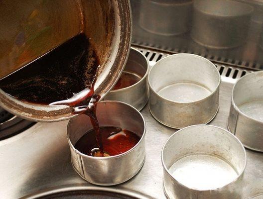 cách làm kem flan cafe 1